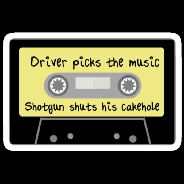 Driver Picks the Music, Shotgun Shuts His Cakehole by fangeek