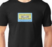 Driver Picks the Music, Shotgun Shuts His Cakehole (blue) Unisex T-Shirt