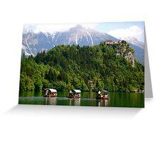 Three Little Gondolas ... Lake Bled Greeting Card
