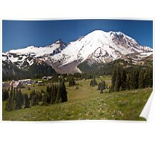 Mt. Rainier from Sunrise Visiting Area Poster