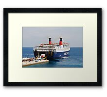 Express Pegasus disembarking, Alonissos Framed Print