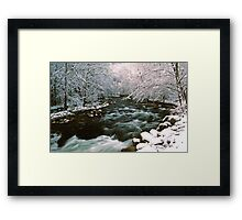 MIDDLE PRONG LITTLE RIVER,WINTER Framed Print