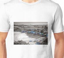 MBSIK Abersoch main beach colour beat huts and boats Unisex T-Shirt