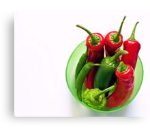 chilli pot Canvas Print