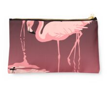 Pink Flamingos tropical retro pop art Studio Pouch