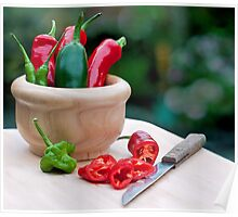 fresh chillies.. Poster