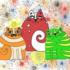 Three Cool Cats by Barb Leopold
