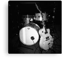 JP Soars' Guitar & Drum Kit Canvas Print