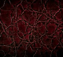 Dark creased leather texture abstract by Arletta Cwalina