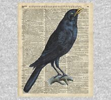 Crow on dictionary book page Unisex T-Shirt