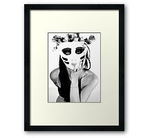 Even the mask does not hide excitement, especially negative Framed Print