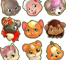 animal faces by Andryuha1981