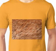 Red fox rough fur texture cloth abstract Unisex T-Shirt
