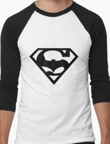 Bat v Super Mans Men's Baseball ¾ T-Shirt