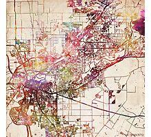 Sacramento map Photographic Print
