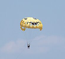 Smiley Face and Parasailing by Sherry Hallemeier