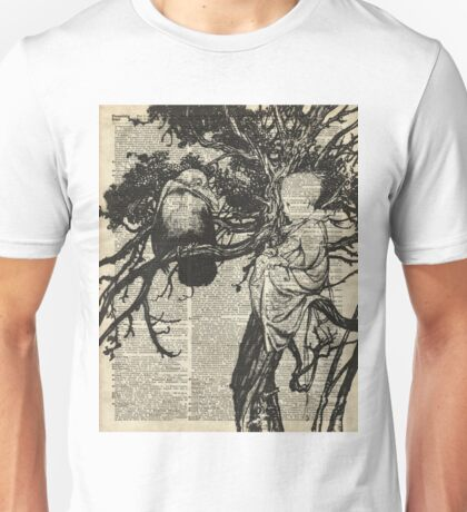 Child and raven vintage illustration Dictionary Art Unisex T-Shirt