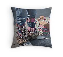 Jingle Jeans Throw Pillow