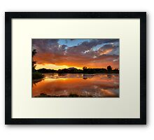Sunset Surround Framed Print