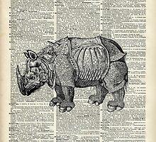 Fantasy steampunk Rhinoceros by DictionaryArt