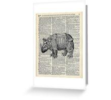 Fantasy steampunk Rhinoceros Greeting Card