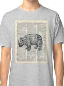 Fantasy steampunk Rhinoceros Classic T-Shirt
