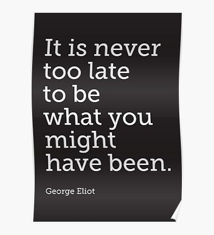 Never Too Late... Poster