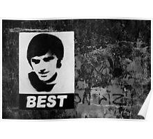 George Best Mono Poster