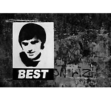 George Best Mono Photographic Print