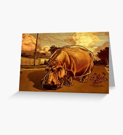 A Big Day Out.  Greeting Card