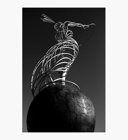 Statue of Harmony Mono Photographic Print