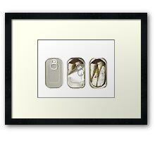 Life in a can. Framed Print