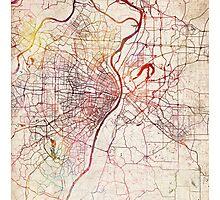 Saint Louis map Photographic Print