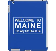 Welcome to Maine Road Sign iPad Case/Skin