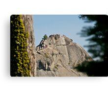 Climbing Moro Rock Canvas Print