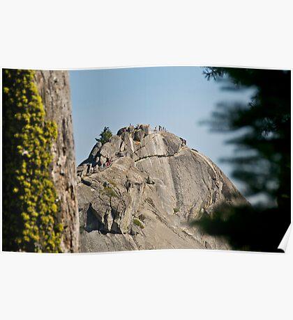 Climbing Moro Rock Poster