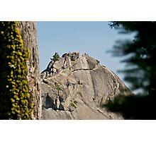 Climbing Moro Rock Photographic Print
