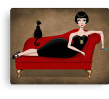 red couch Canvas Print