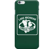 Lake Michigan Circle Tour, Sign, Wisconsin iPhone Case/Skin