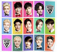 SEVENTEEN Faces Poster