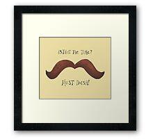 Must Dash! Framed Print