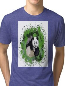 Cute playful Panda Tri-blend T-Shirt
