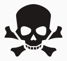 Skull and Crossbones, Halloween, Pirate, Death, Poison, BLACK Kids Clothes
