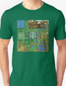 The Legend of Zelda: A Link to the Past Map T-Shirt