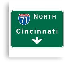 Cincinnati, OH Road Sign  Canvas Print