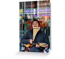Busker - Colour Greeting Card