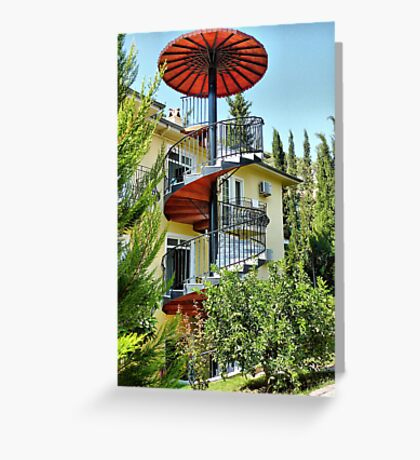 The Spiral Staircase . Greeting Card