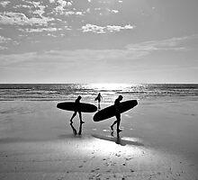 """Board at the beach, St Ouen's Bay, Jersey"" by Bradley Shawn  Rabon"