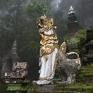 Temple in the mist, Chiang Mai, Thailand by John Spies