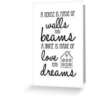 House of... Greeting Card